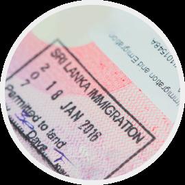 Receive visa stamped into your passport